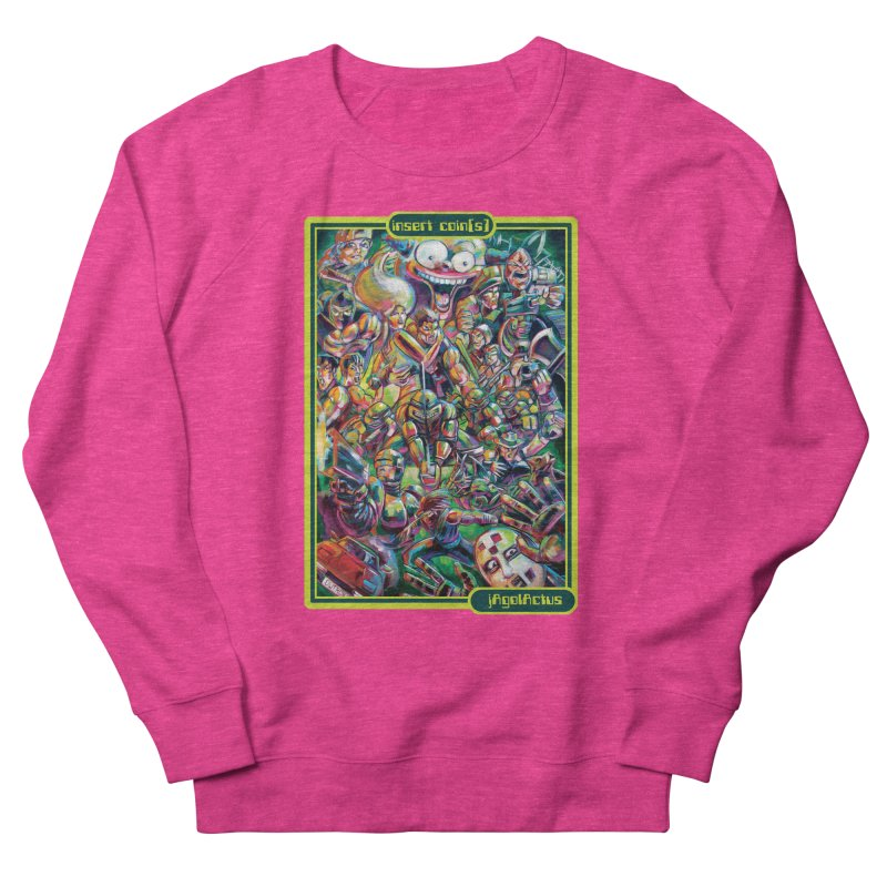 insert coin(s) Women's French Terry Sweatshirt by All City Emporium's Artist Shop