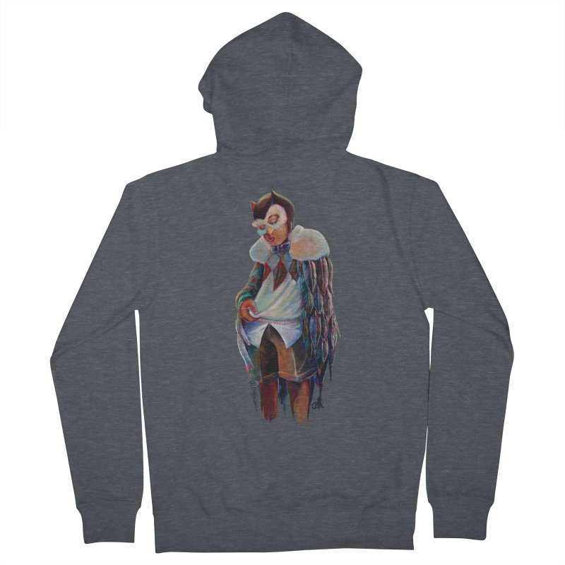 Owl boi Women's French Terry Zip-Up Hoody by All City Emporium's Artist Shop