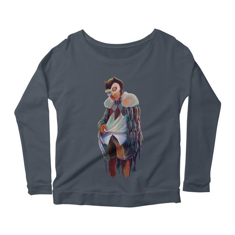Owl boi Women's Scoop Neck Longsleeve T-Shirt by All City Emporium's Artist Shop