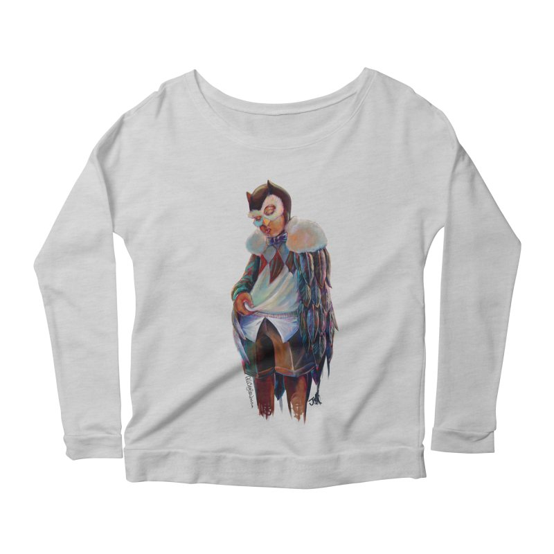 Owl boi Women's Scoop Neck Longsleeve T-Shirt by allcityemporium's Artist Shop