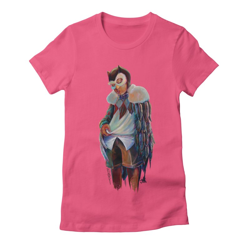 Owl boi Women's Fitted T-Shirt by All City Emporium's Artist Shop