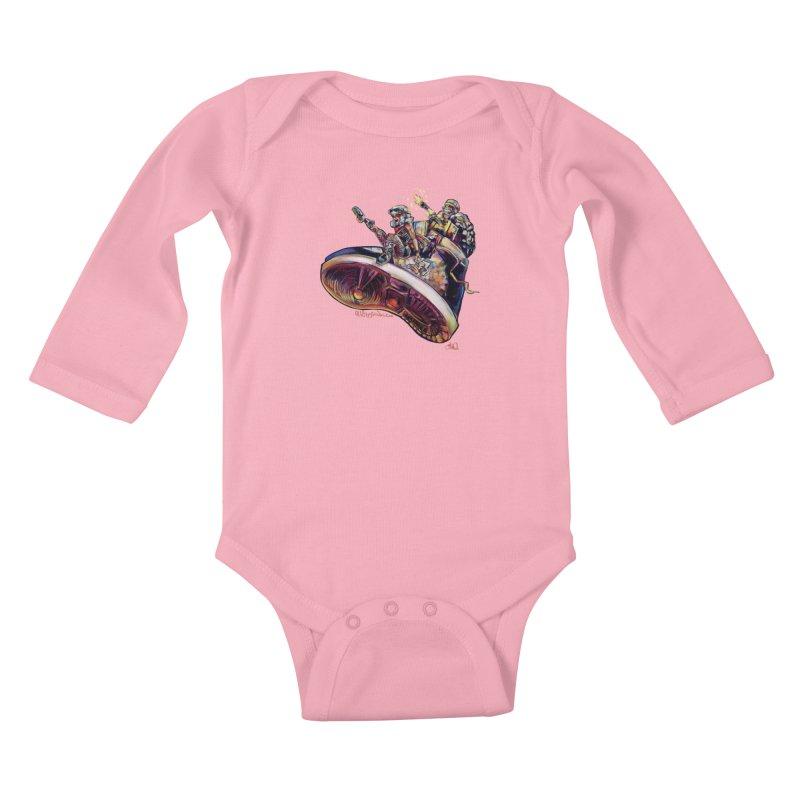 Fly Kicks Kids Baby Longsleeve Bodysuit by All City Emporium's Artist Shop