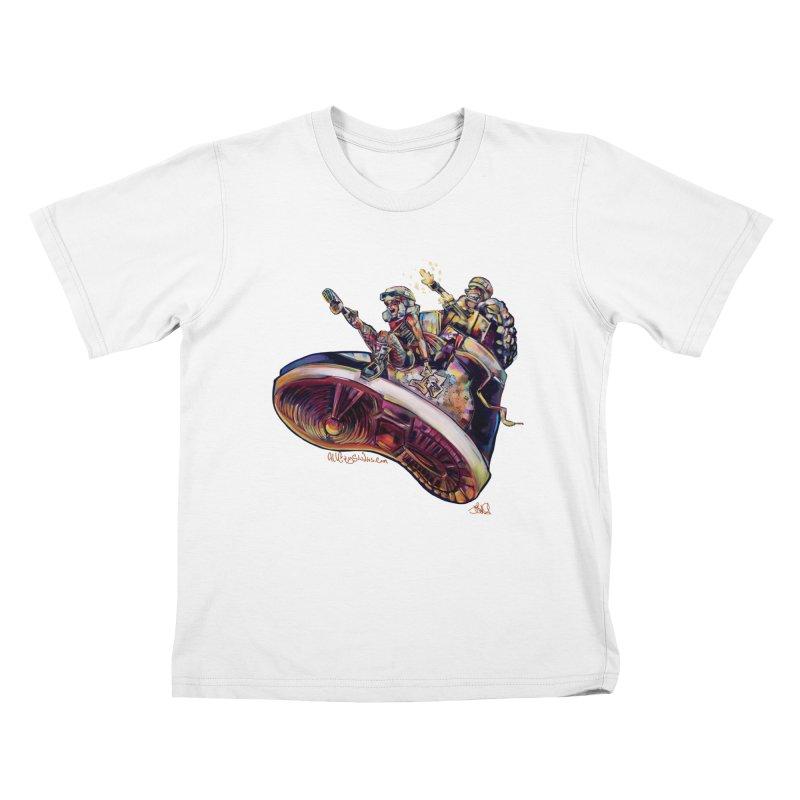 Fly Kicks Kids T-Shirt by All City Emporium's Artist Shop