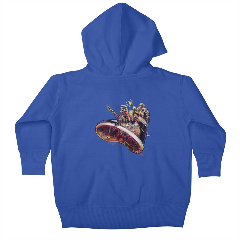 Fly Kicks Kids Baby Zip-Up Hoody by allcityemporium's Artist Shop