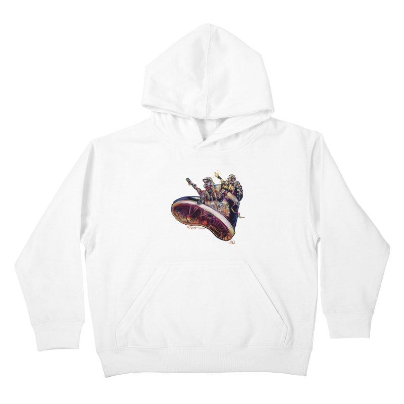 Fly Kicks Kids Pullover Hoody by All City Emporium's Artist Shop