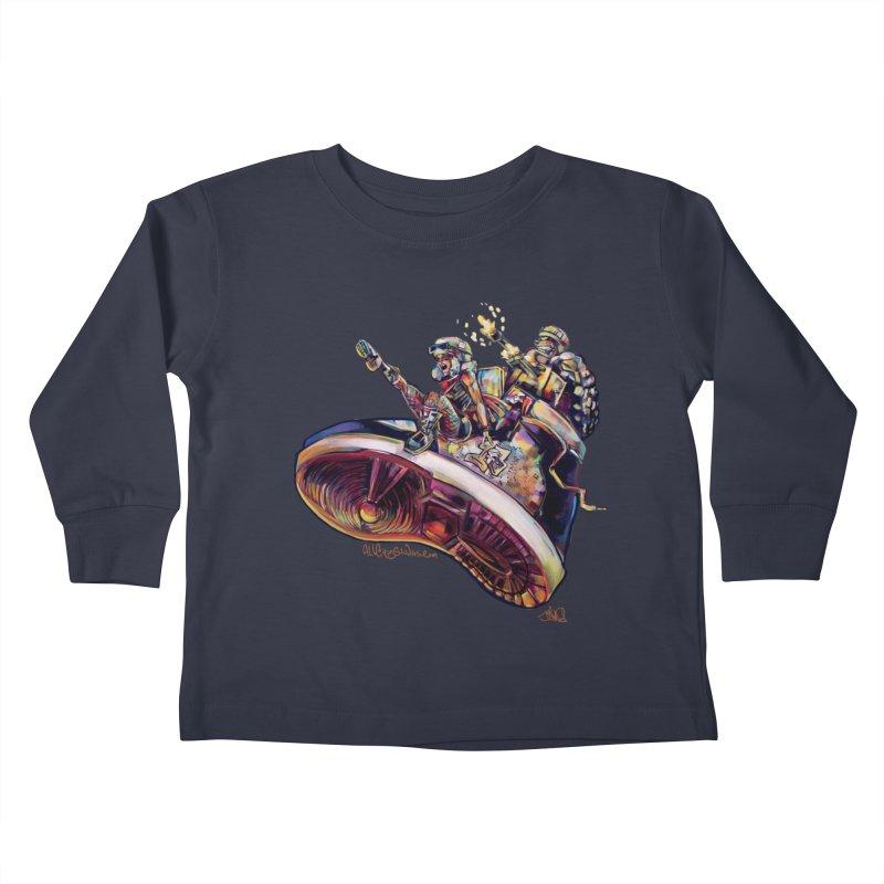 Fly Kicks Kids Toddler Longsleeve T-Shirt by All City Emporium's Artist Shop