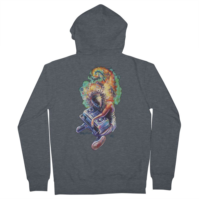 Process # 4 Men's French Terry Zip-Up Hoody by All City Emporium's Artist Shop