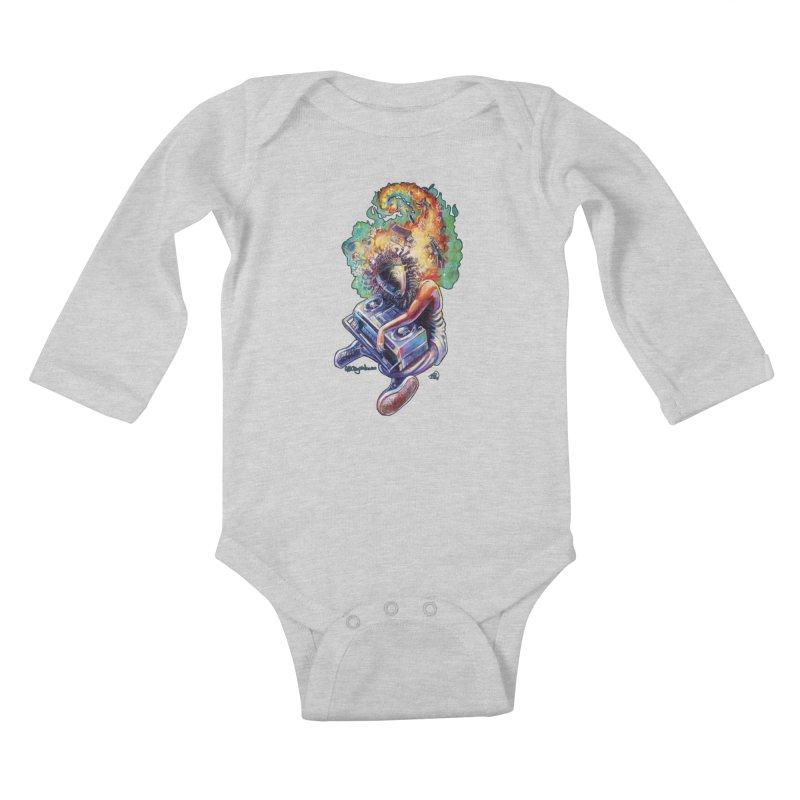 Process # 4 Kids Baby Longsleeve Bodysuit by All City Emporium's Artist Shop