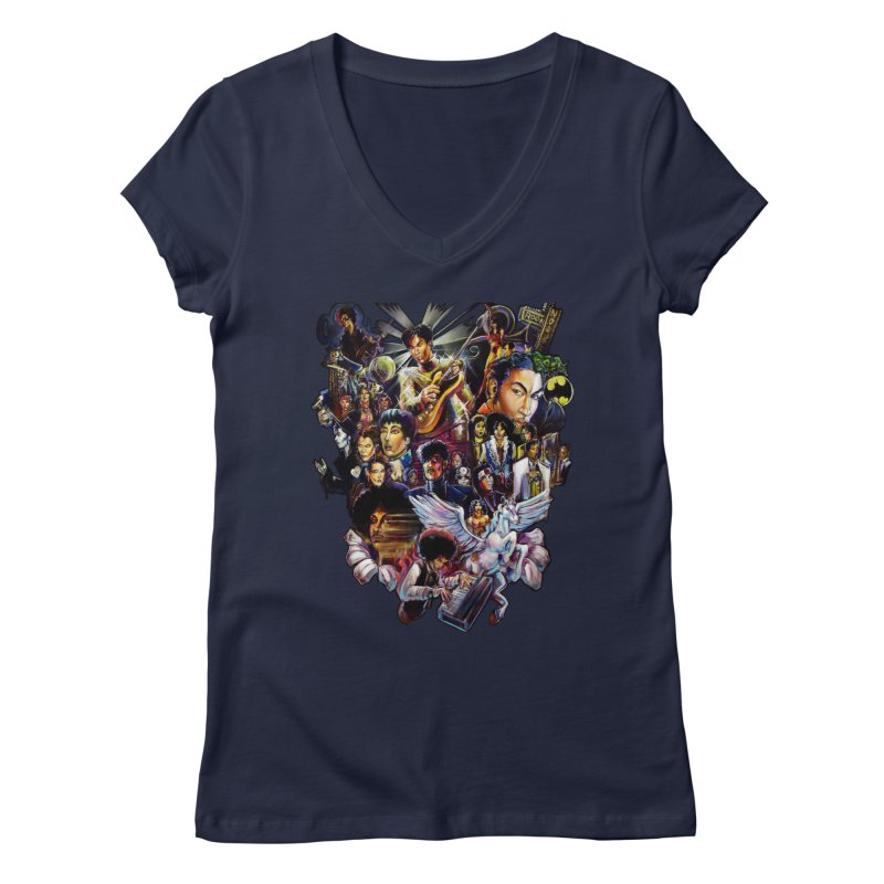 Mr.Nelson Women's Regular V-Neck by All City Emporium's Artist Shop