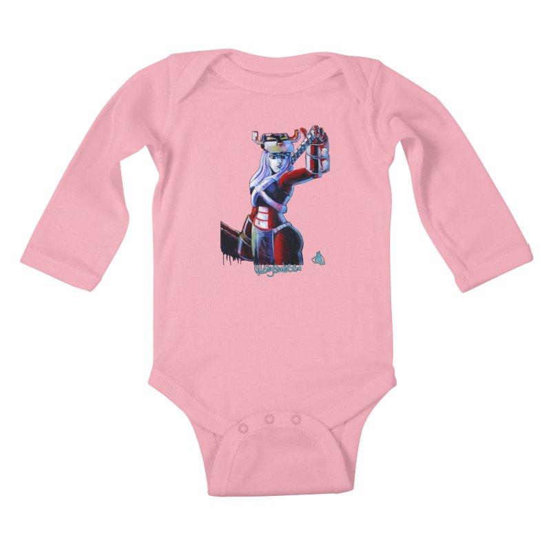 Marauder 1 Kids Baby Longsleeve Bodysuit by All City Emporium's Artist Shop
