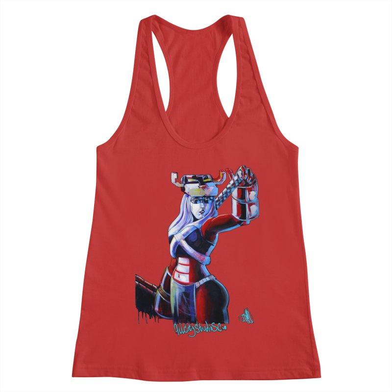 Marauder 1 Women's Racerback Tank by All City Emporium's Artist Shop