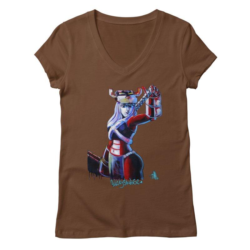 Marauder 1 Women's Regular V-Neck by All City Emporium's Artist Shop