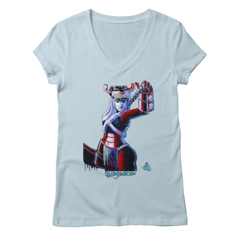 Marauder 1 Women's Regular V-Neck by All City Emporium's Artist Shop