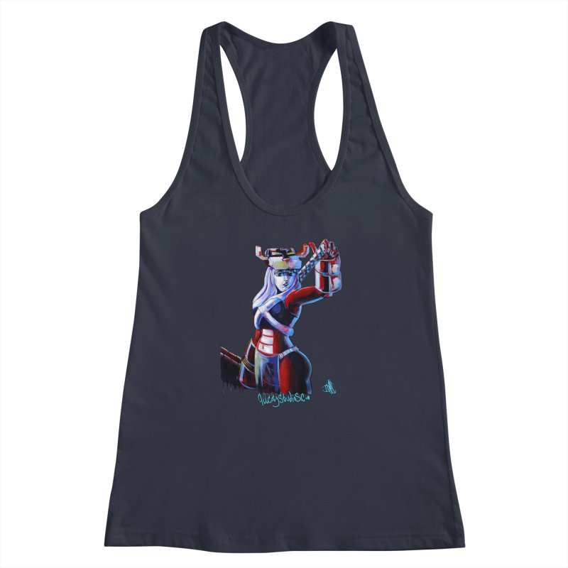 Marauder 1 Women's Racerback Tank by All City Emporium's Artist Shop