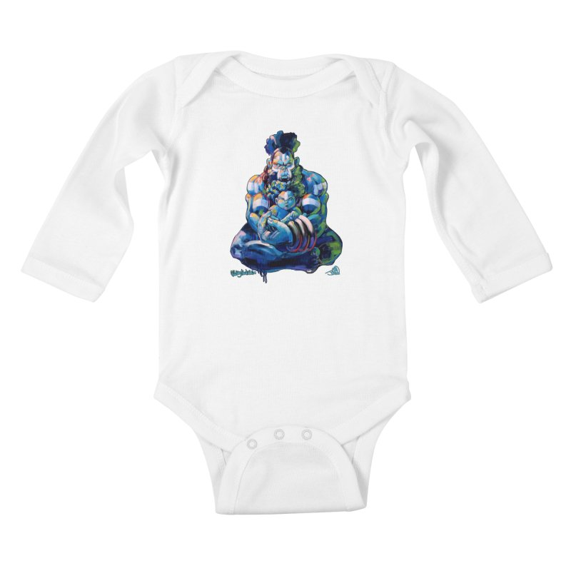 Daddy, Don'tcha know things go in cycles? Kids Baby Longsleeve Bodysuit by All City Emporium's Artist Shop
