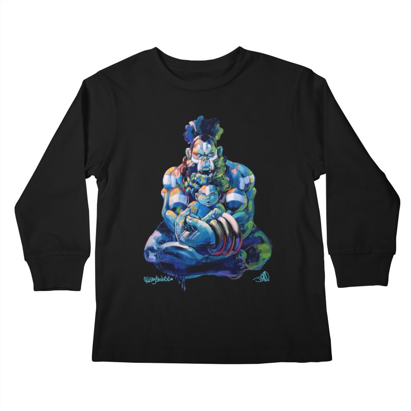 Daddy, Don'tcha know things go in cycles? Kids Longsleeve T-Shirt by All City Emporium's Artist Shop