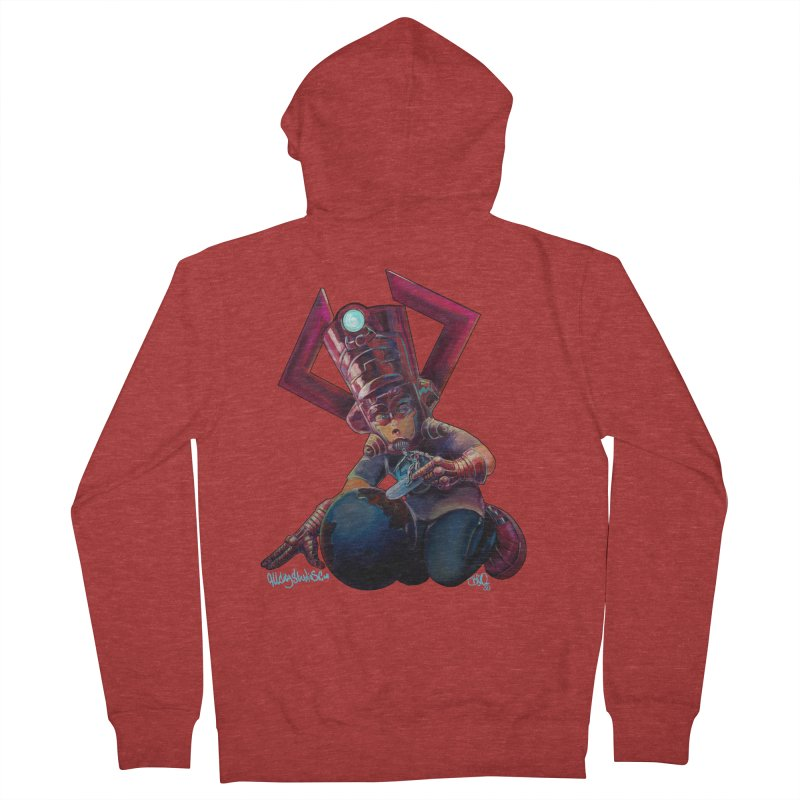 Playing with my food Women's French Terry Zip-Up Hoody by All City Emporium's Artist Shop
