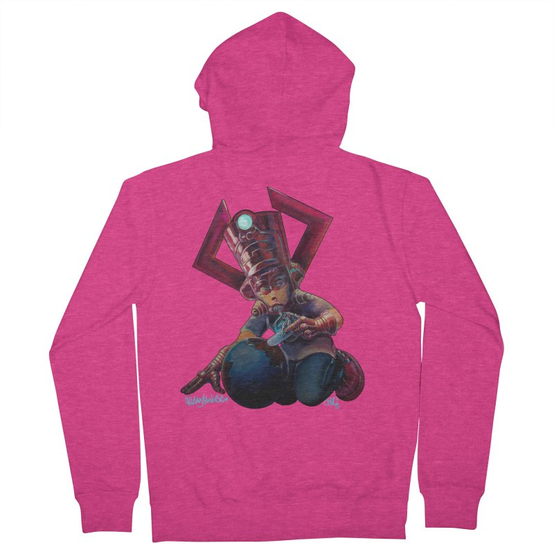 Playing with my food Women's French Terry Zip-Up Hoody by allcityemporium's Artist Shop