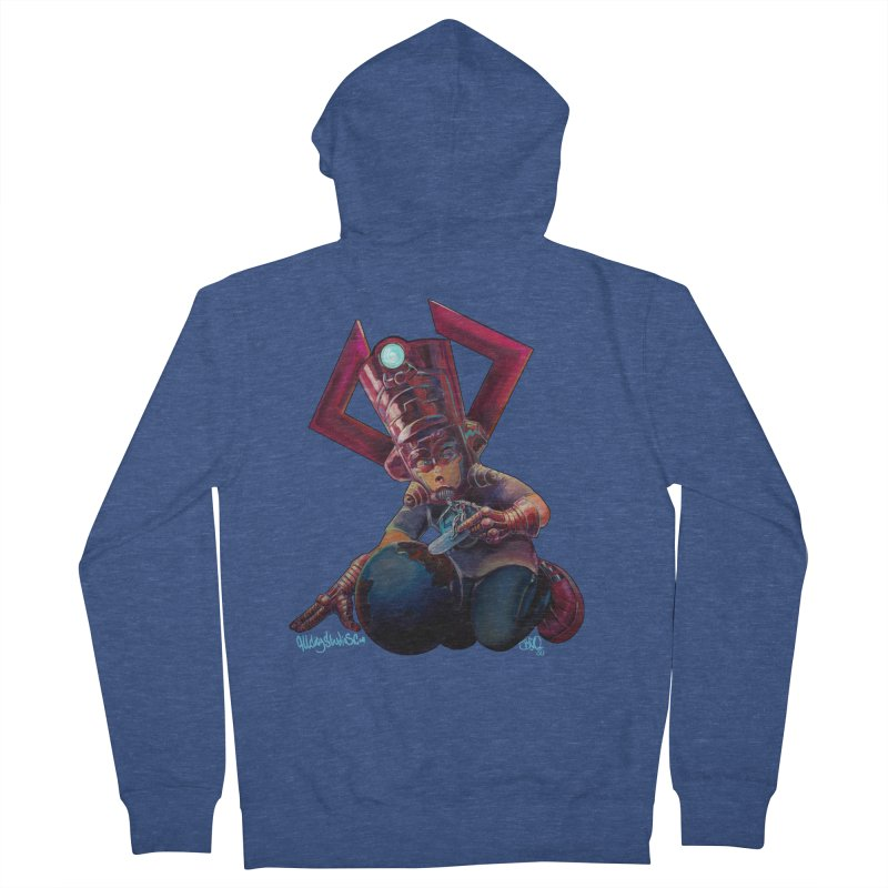 Playing with my food Men's French Terry Zip-Up Hoody by All City Emporium's Artist Shop
