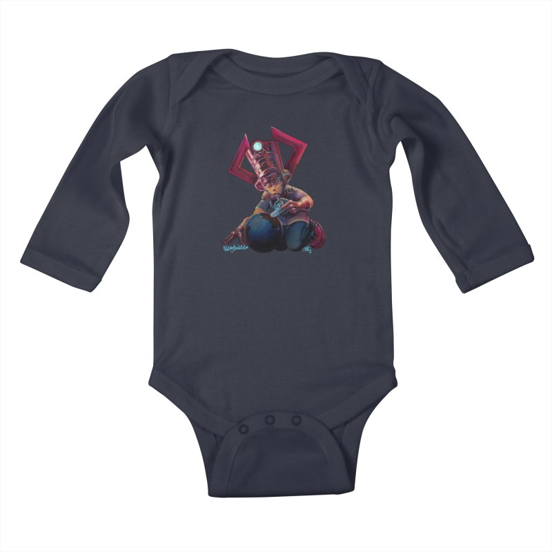 Playing with my food Kids Baby Longsleeve Bodysuit by All City Emporium's Artist Shop