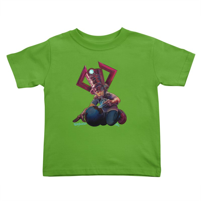 Playing with my food Kids Toddler T-Shirt by All City Emporium's Artist Shop