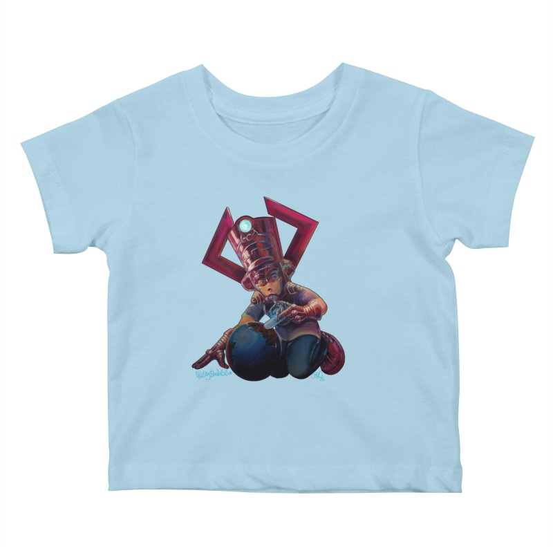 Playing with my food Kids Baby T-Shirt by All City Emporium's Artist Shop