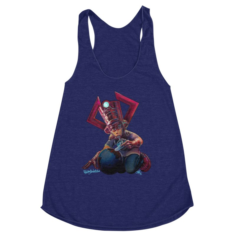 Playing with my food Women's Racerback Triblend Tank by All City Emporium's Artist Shop