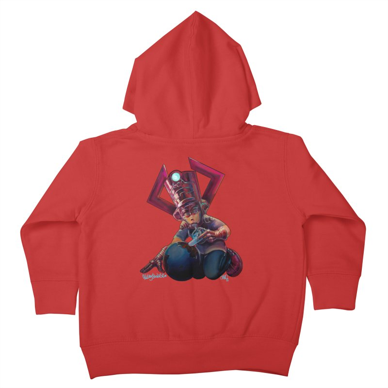 Playing with my food Kids Toddler Zip-Up Hoody by All City Emporium's Artist Shop