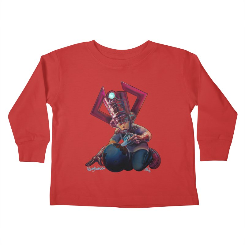 Playing with my food Kids Toddler Longsleeve T-Shirt by All City Emporium's Artist Shop