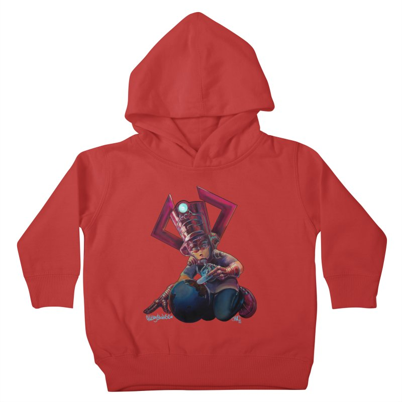 Playing with my food Kids Toddler Pullover Hoody by All City Emporium's Artist Shop