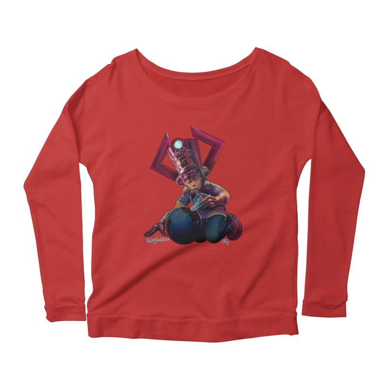 Playing with my food Women's Scoop Neck Longsleeve T-Shirt by All City Emporium's Artist Shop