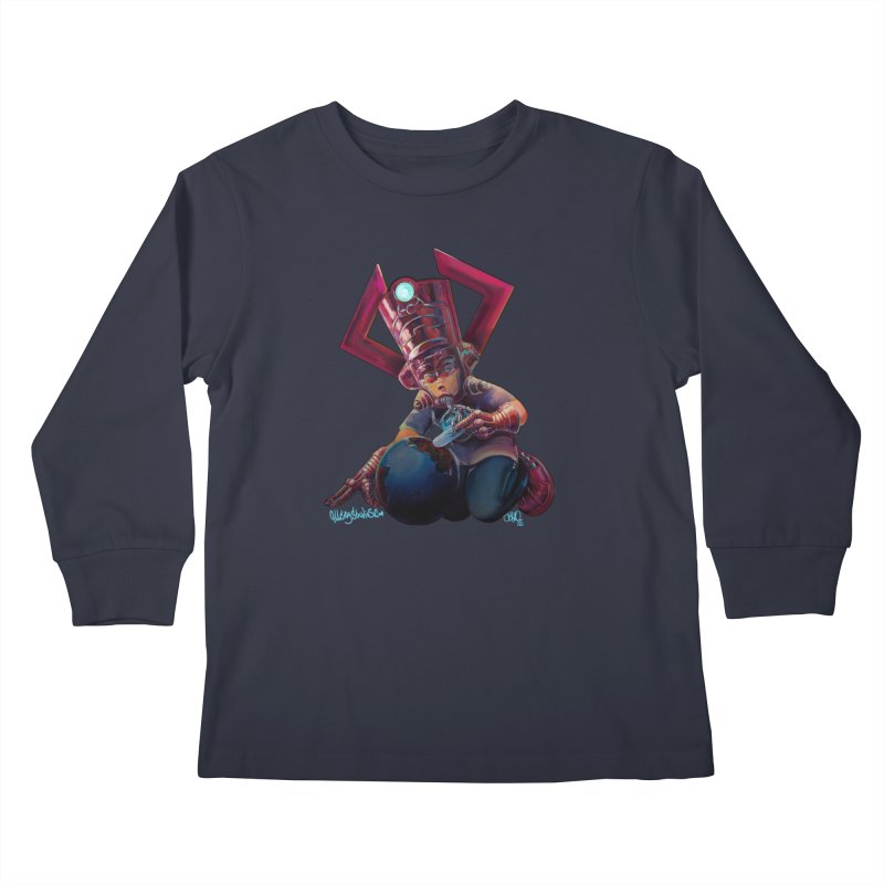 Playing with my food Kids Longsleeve T-Shirt by All City Emporium's Artist Shop