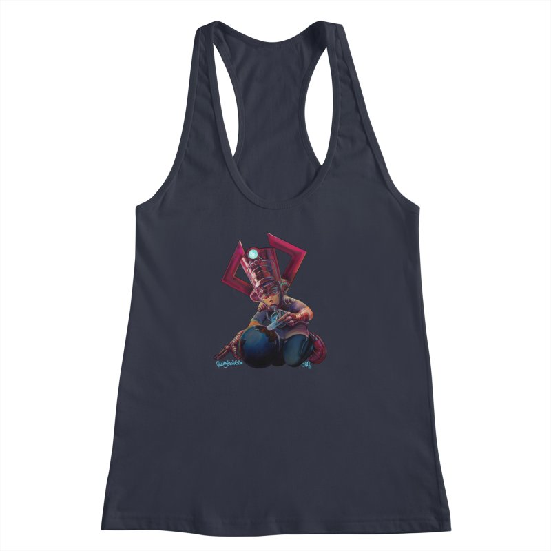 Playing with my food Women's Racerback Tank by All City Emporium's Artist Shop