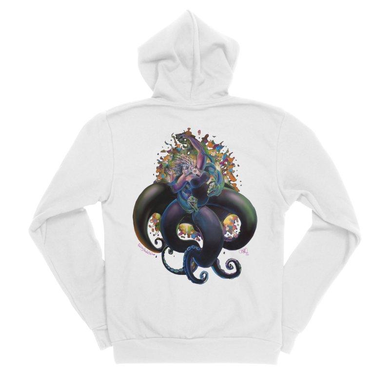 Sea witch Men's Sponge Fleece Zip-Up Hoody by allcityemporium's Artist Shop