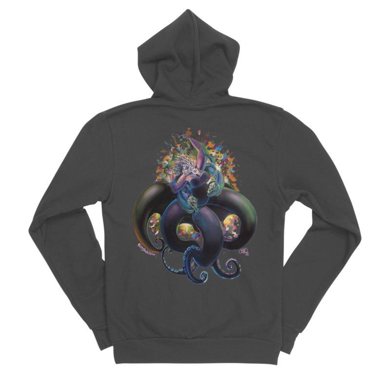 Sea witch Men's Sponge Fleece Zip-Up Hoody by All City Emporium's Artist Shop