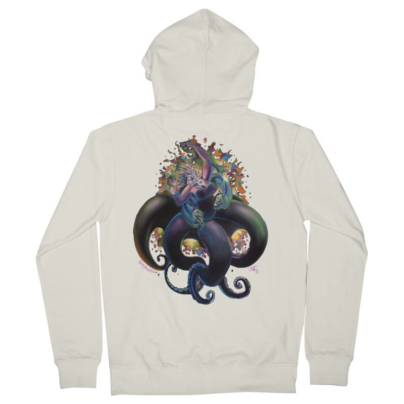 Sea witch Women's French Terry Zip-Up Hoody by allcityemporium's Artist Shop