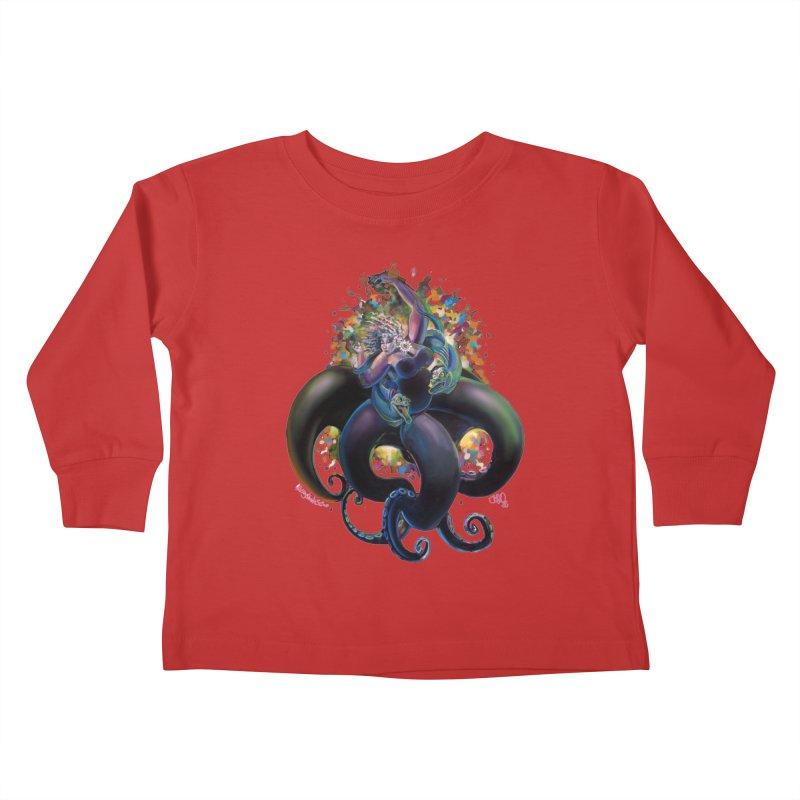 Sea witch Kids Toddler Longsleeve T-Shirt by All City Emporium's Artist Shop