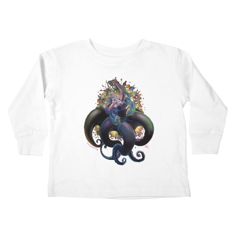 Sea witch Kids Toddler Longsleeve T-Shirt by All City Emporium's Artist Shop