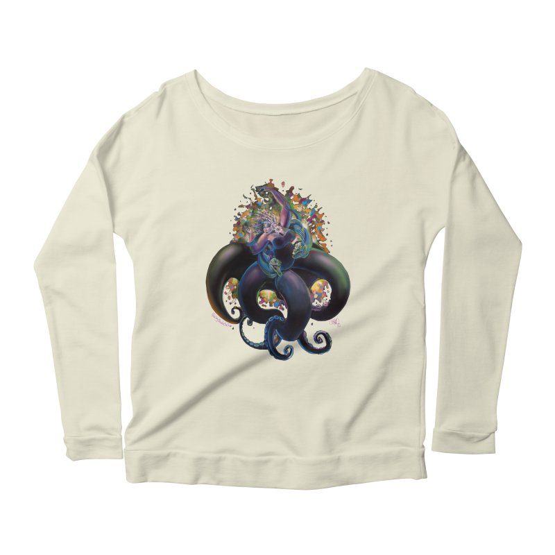Sea witch Women's Scoop Neck Longsleeve T-Shirt by All City Emporium's Artist Shop