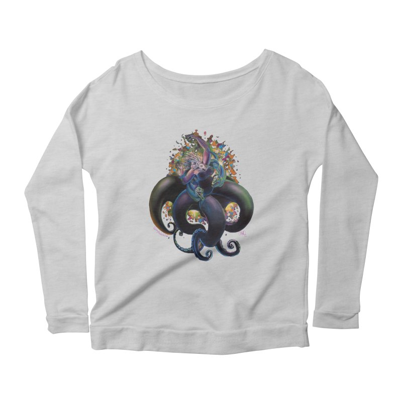 Sea witch Women's Scoop Neck Longsleeve T-Shirt by All City Emporium's Artist Shop