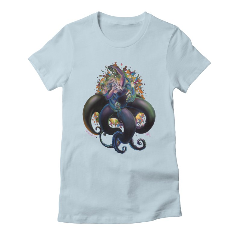 Sea witch Women's Fitted T-Shirt by All City Emporium's Artist Shop