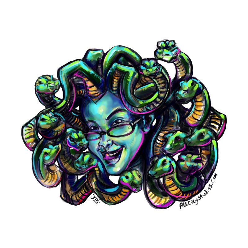 Medusa Home Mounted Acrylic Print by All City Emporium's Artist Shop