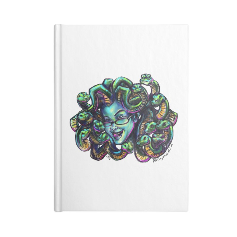 Medusa Accessories Blank Journal Notebook by All City Emporium's Artist Shop