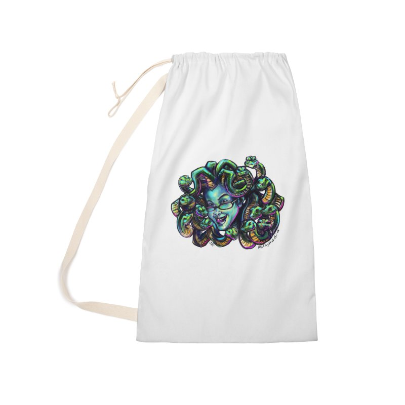 Medusa Accessories Laundry Bag Bag by All City Emporium's Artist Shop