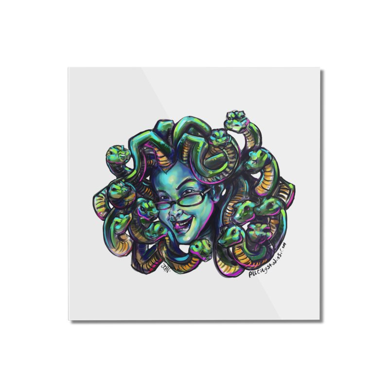 Medusa Home Mounted Acrylic Print by allcityemporium's Artist Shop