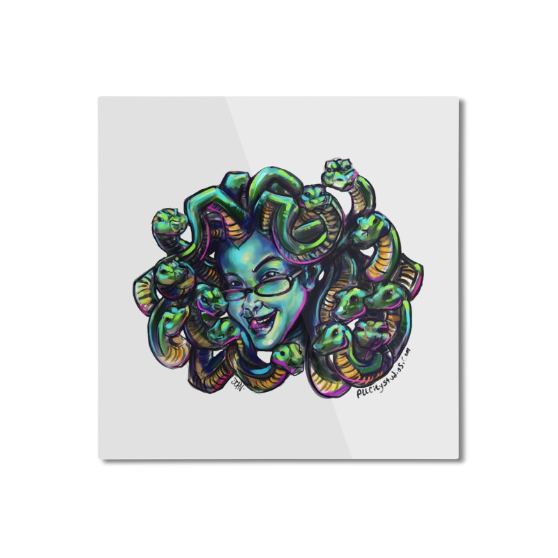 Medusa Home Mounted Aluminum Print by All City Emporium's Artist Shop