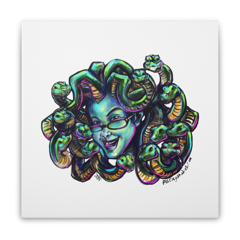 Medusa Home Stretched Canvas by All City Emporium's Artist Shop