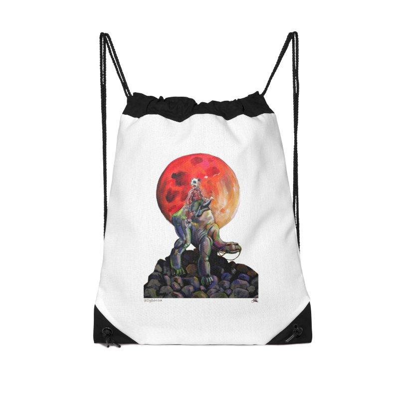 Pandaboi Accessories Drawstring Bag Bag by All City Emporium's Artist Shop