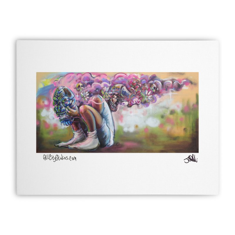 Thought Process Home Stretched Canvas by All City Emporium's Artist Shop