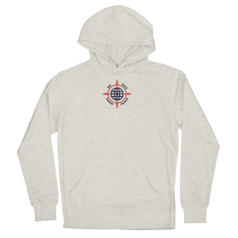 No War, Know Peace Men's French Terry Pullover Hoody by Alleviate Apparel & Goods